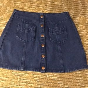 Jean skirt with cute front buttons